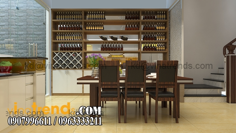 bep01 Mẫu thiết kế nhà phố đẹp mặt tiền 4x15,5m cho gia đình trẻ anh Giáp Đồng Nai   NP220216A
