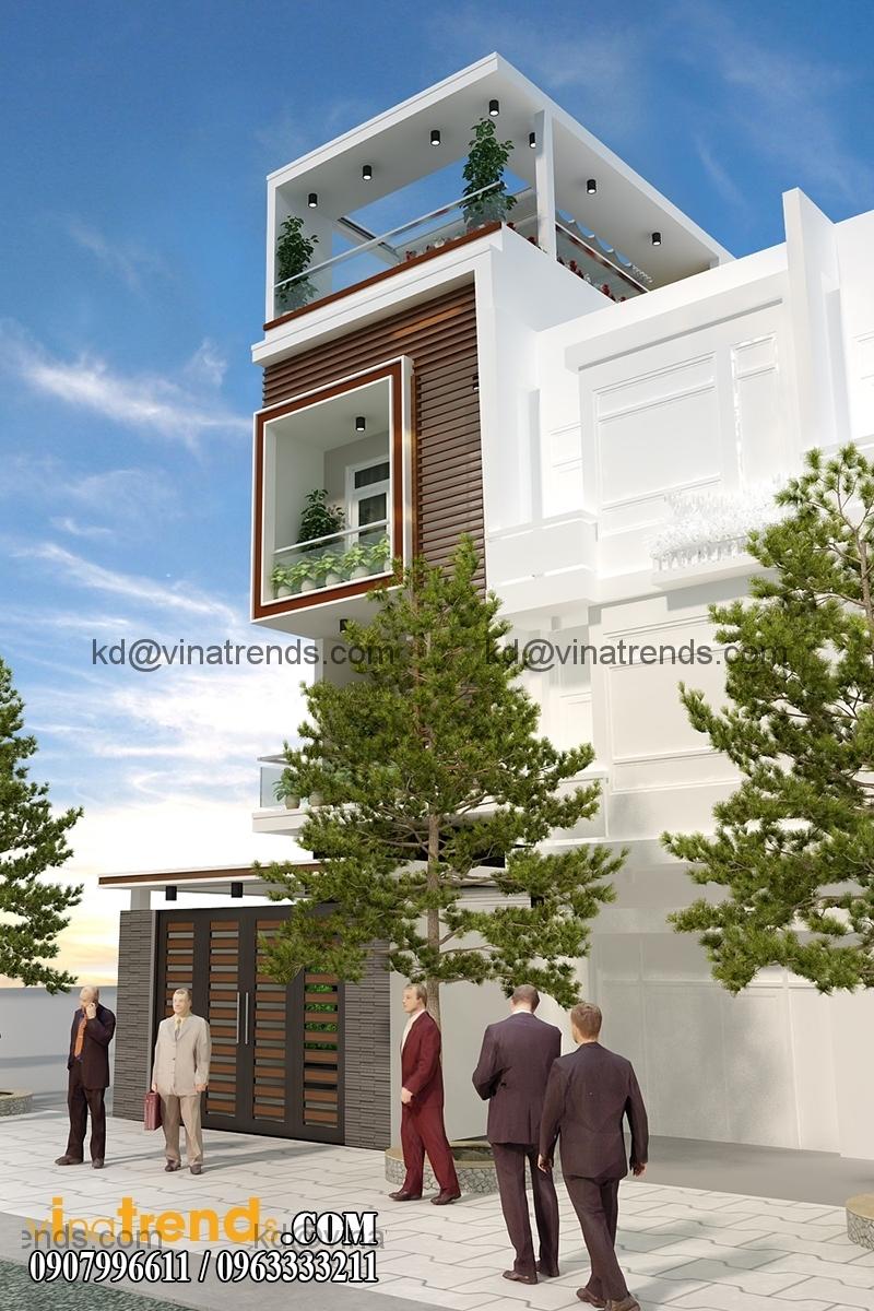 kien truc 21 1b Thiết kế nhà phố đẹp cho diện tích 5x18m nhà anh Phước ở Tân Phú   NP091213A