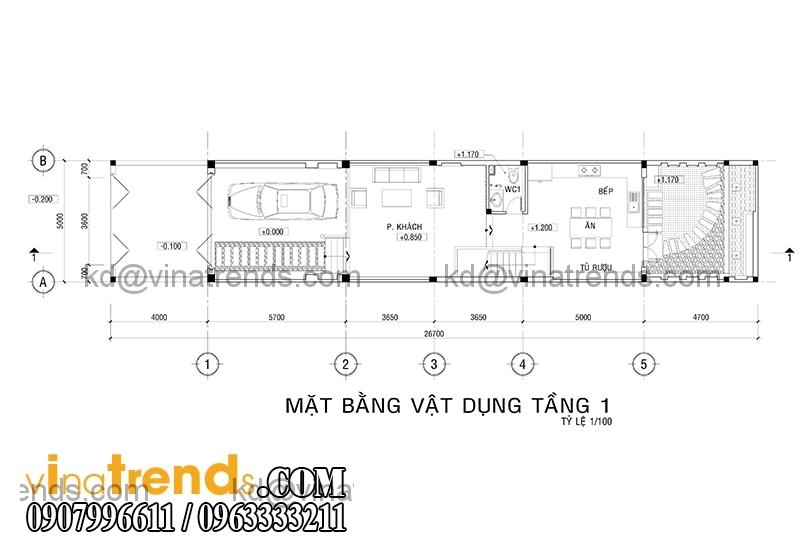 mb 2 Thiết kế nhà phố đẹp cho diện tích 5x18m nhà anh Phước ở Tân Phú   NP091213A