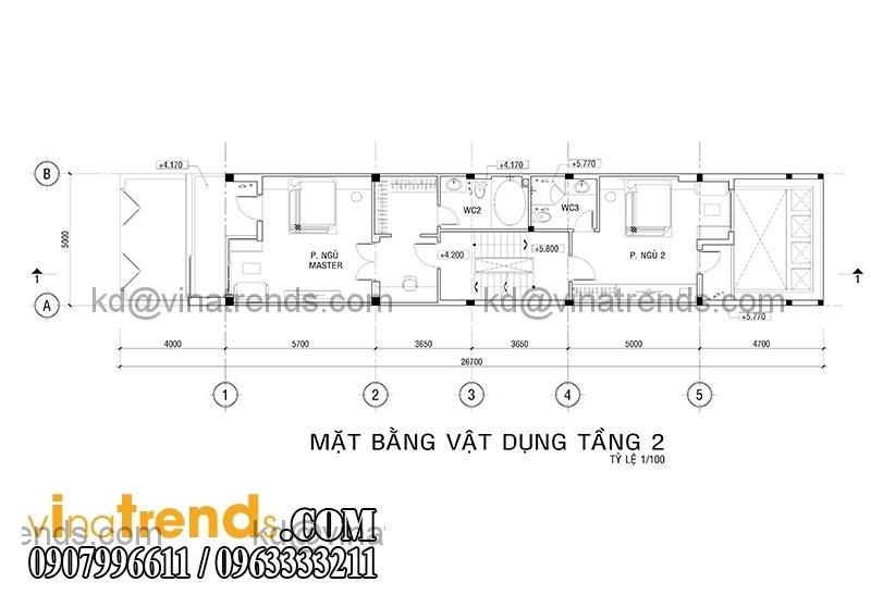 mb 3 Thiết kế nhà phố đẹp cho diện tích 5x18m nhà anh Phước ở Tân Phú   NP091213A