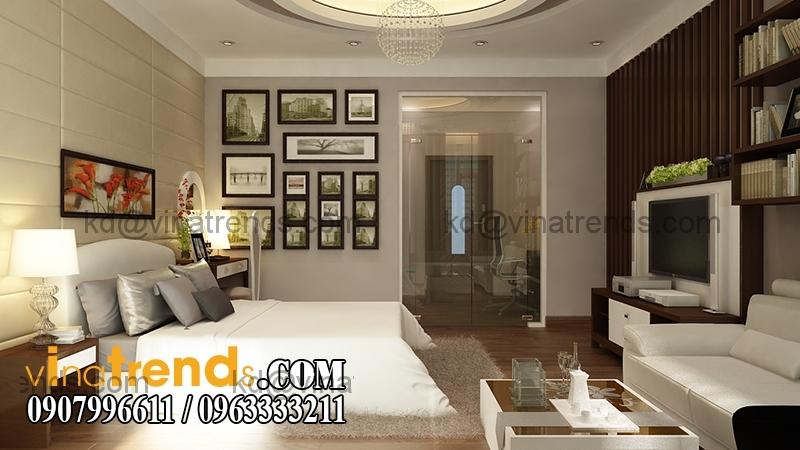 phong ngu1c 1 Thiết kế nhà phố đẹp cho diện tích 5x18m nhà anh Phước ở Tân Phú   NP091213A