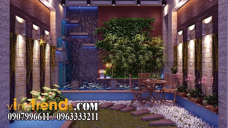 san vuon sau nha Thiết kế nhà phố đẹp cho diện tích 5x18m nhà anh Phước ở Tân Phú   NP091213A