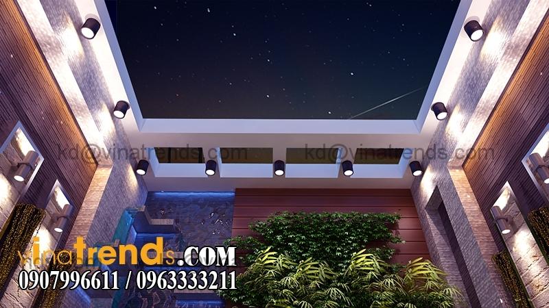 san vuon sau nhab Thiết kế nhà phố đẹp cho diện tích 5x18m nhà anh Phước ở Tân Phú   NP091213A