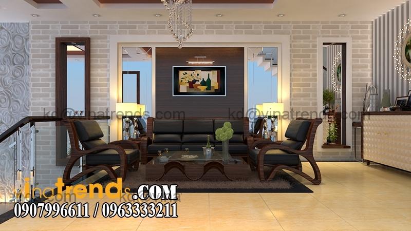 tret 03 Mẫu thiết kế nhà phố đẹp mặt tiền 4x15,5m cho gia đình trẻ anh Giáp Đồng Nai   NP220216A