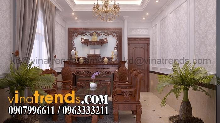 Phong tho 1 Mẫu biệt thự 3 tầng đẹp 12x30m sang trọng tinh tế của anh Hoan Đồng Nai BT310316A