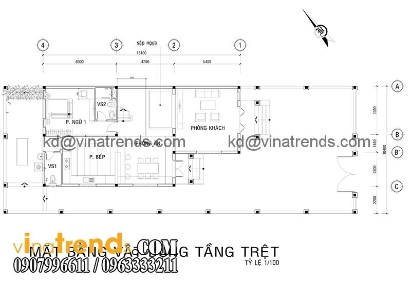 ban ve biet thu 2 tang dep 2 Mẫu thiết kế biệt thự mini 2 tầng đẹp trên diện tích 160m2 say đắm lòng người   BTMN140714A