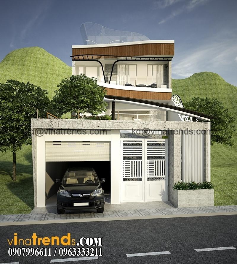 biet thu 2 tang dep 3 Mẫu thiết kế biệt thự mini 2 tầng đẹp trên diện tích 160m2 say đắm lòng người   BTMN140714A