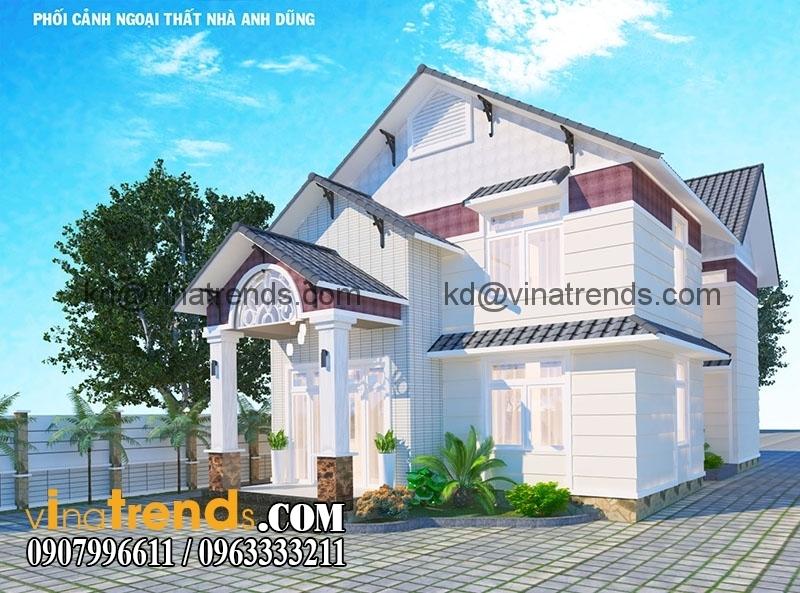biet thu 2 tang dep 5 Thiết kế biệt thự vườn đẹp thân thiện   BTV130714A