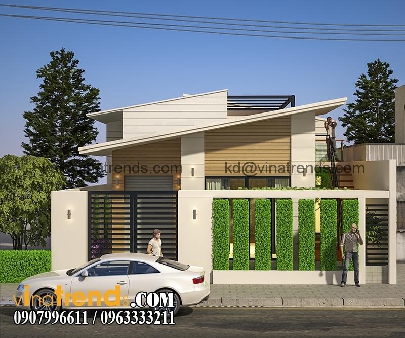 biet thu 2 tang dep 7 Mẫu thiết kế biệt thự mini 2 tầng đẹp trên diện tích 160m2 say đắm lòng người   BTMN140714A
