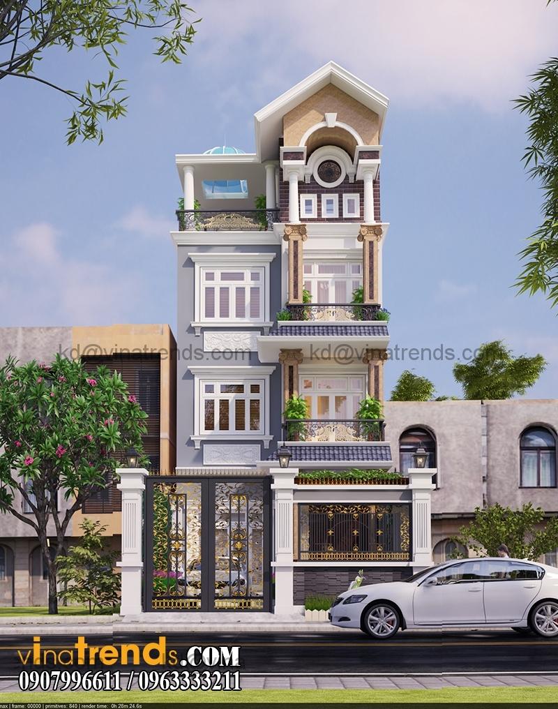 biet thu 3 tang tan co dien 110m2 dep 1 Ngập tràn kiến trúc thiết kế biệt thự hiện đại tân cổ điển mới   BT240714A
