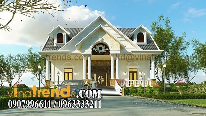 biet thu vuon 230m dep 5 Thiết kế biệt thự vườn 1 tầng ngập tràn sắc xanh   BTV180714B