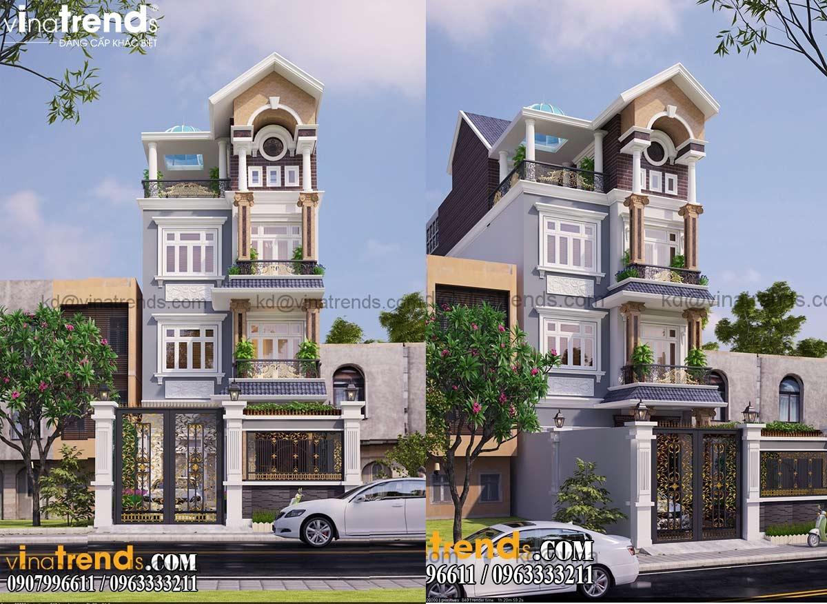 mau nha biet thu 4 tang co dien dep nhat Top 20 mẫu nhà biệt thự đẹp tìm kiếm nhiều nhất dành cho khách muốn xây nhà