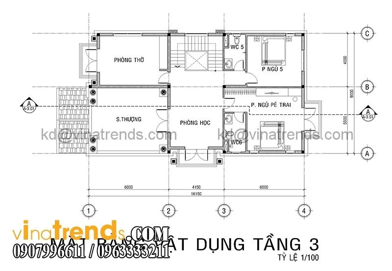 mb biet thu 3 tang co dien co san vuon 1 Thiết kế biệt thự vườn 360m2 3 tầng tân cổ điển mới lạ BTV270814A