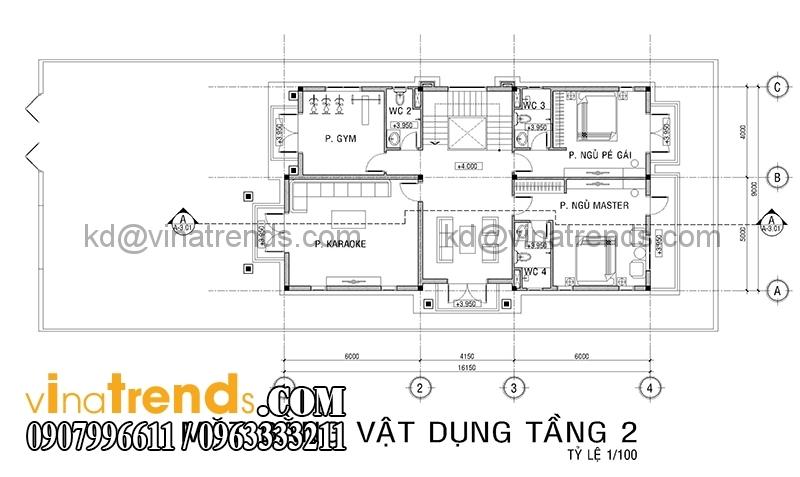 mb biet thu 3 tang co dien co san vuon 3 Thiết kế biệt thự vườn 360m2 3 tầng tân cổ điển mới lạ BTV270814A