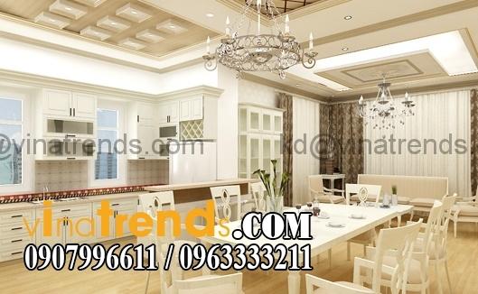 noi that phong bep co dien dep 5643 Thiết kế nội thất nhà phố cổ điển diện tích 5.6x26m   NT170714B