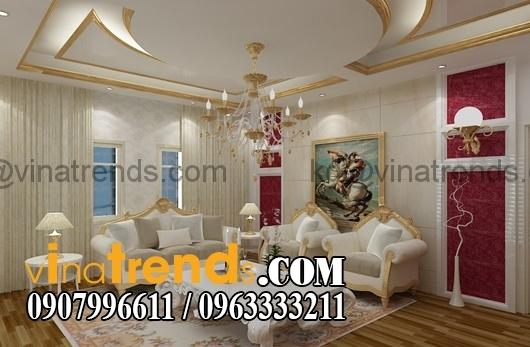 noi that phong khach co dien Thiết kế nội thất nhà phố cổ điển diện tích 5.6x26m   NT170714B