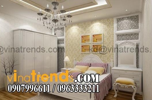 phong ngu co dien dep 87591 Thiết kế nội thất nhà phố cổ điển diện tích 5.6x26m   NT170714B