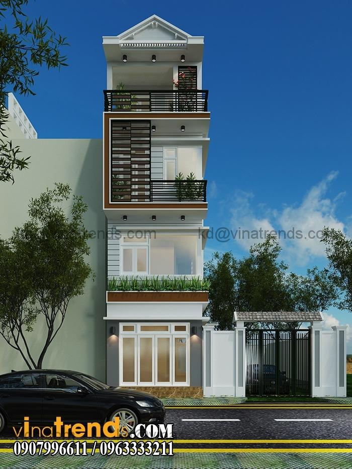 A 1 Ngắm thiết kế nhà đẹp 4 tầng đơn sơ lộng gió suốt bốn mùa   ND130814A