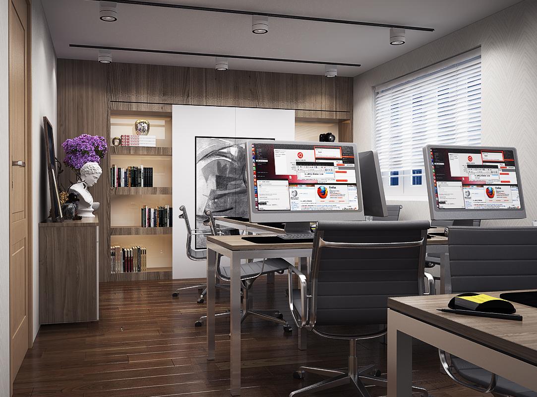 LV LUNG 1 Thiết kế nội thất văn phòng đẹp 234m2 hiện đại thân thiện   NT170914A