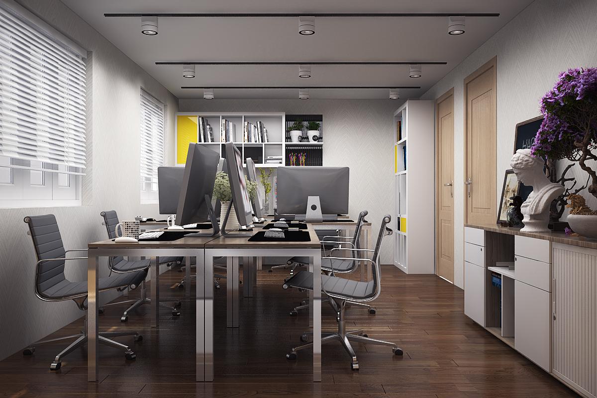 LV LUNG 4 1 Thiết kế nội thất văn phòng đẹp 234m2 hiện đại thân thiện   NT170914A