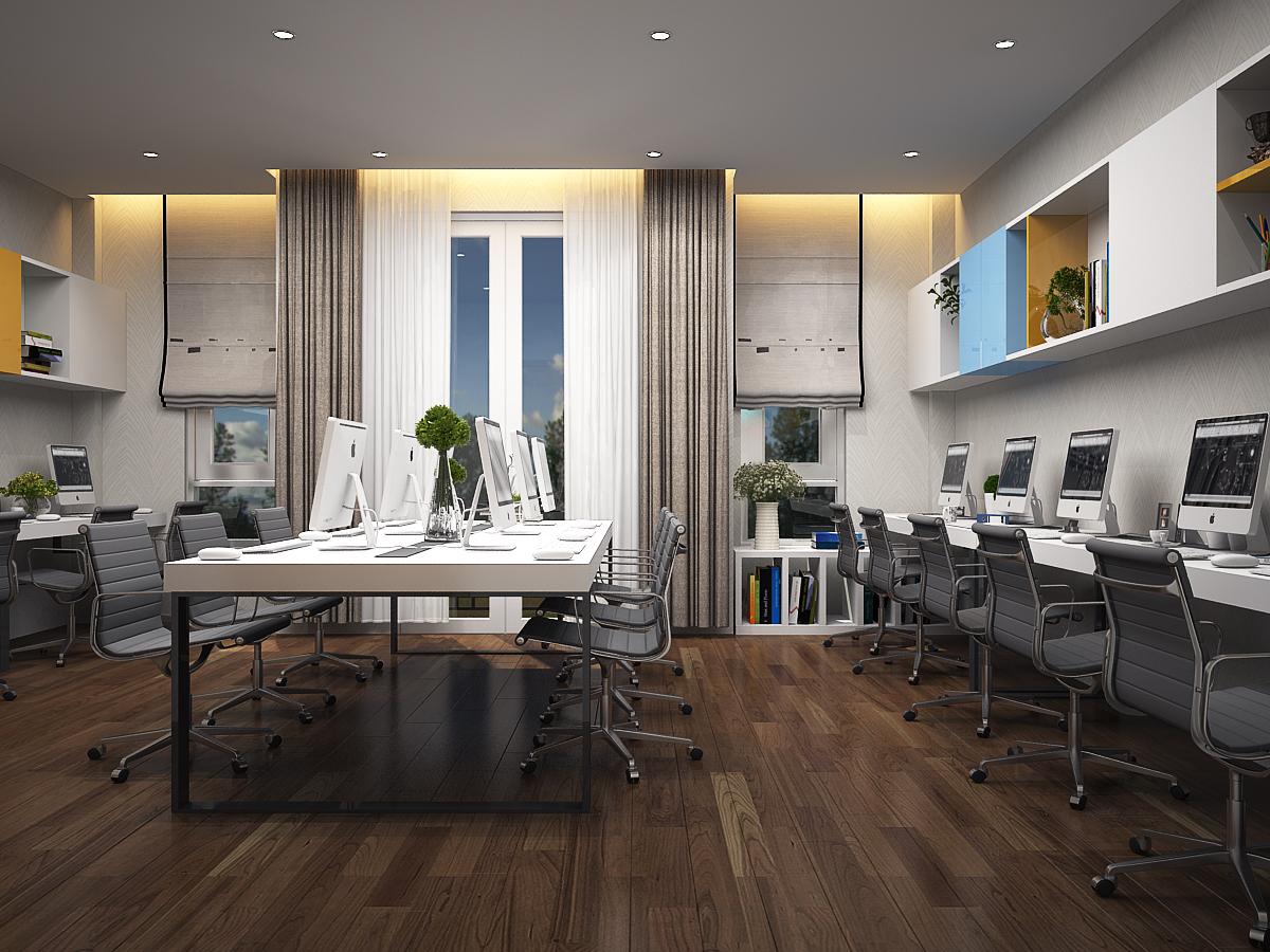 P LV 3 4 Thiết kế nội thất văn phòng đẹp 234m2 hiện đại thân thiện   NT170914A