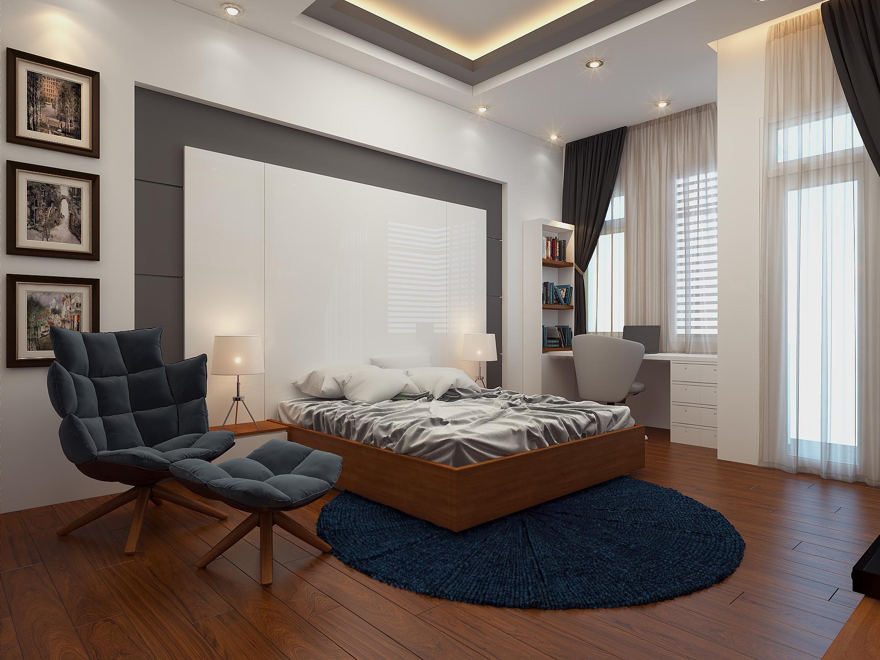 PHONG CON TRAI 3 Mẫu thiết kế nhà đẹp 4,5x18m 3 tầng mới hiện đại ngập không gian xanh đẹp tuyệt ở Biên Hòa