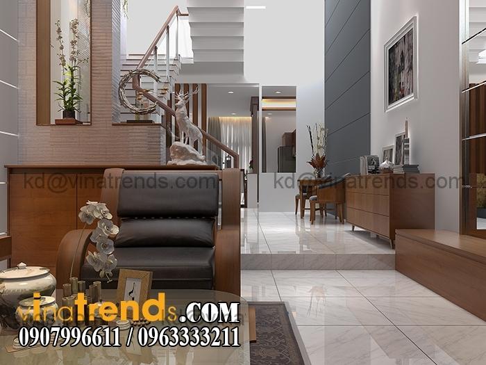 PHONG KHACH BEP 1 Mẫu thiết kế nhà đẹp 4,5x18m 3 tầng mới hiện đại   ND260814A