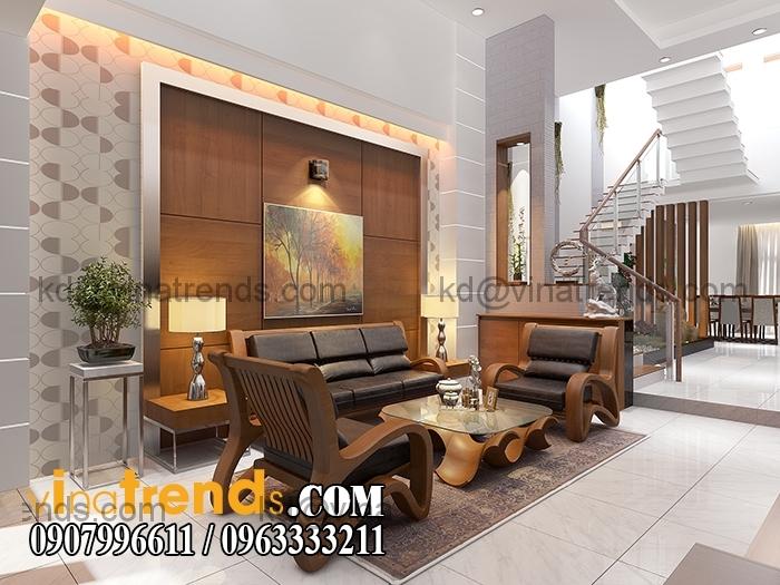PHONG KHACH BEP 2 Mẫu thiết kế nhà đẹp 4,5x18m 3 tầng mới hiện đại   ND260814A