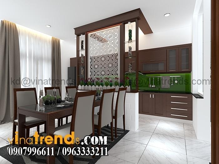 PHONG KHACH BEP 4 Mẫu thiết kế nhà đẹp 4,5x18m 3 tầng mới hiện đại   ND260814A