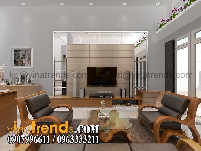 PHONG KHACH BEP 5 Mẫu thiết kế nhà đẹp 4,5x18m 3 tầng mới hiện đại   ND260814A