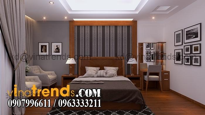Phong ngu master 1.RGB color Mẫu thiết kế nhà đẹp 4,5x18m 3 tầng mới hiện đại   ND260814A