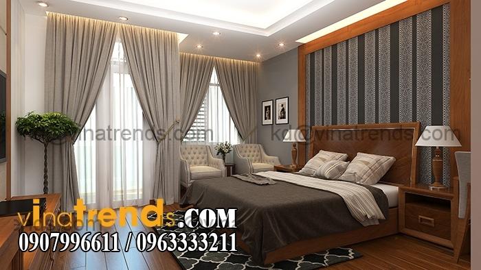 Phong ngu master Mẫu thiết kế nhà đẹp 4,5x18m 3 tầng mới hiện đại   ND260814A