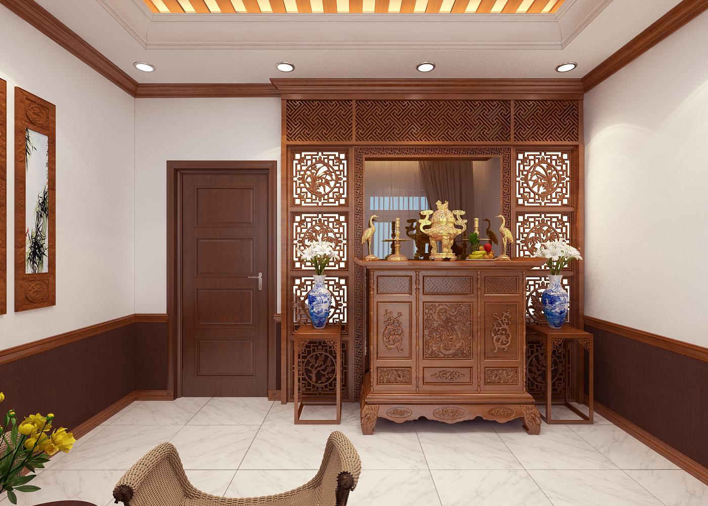 Phong tho 1 1 Mẫu nhà biệt thự 2 tầng mái thái 8,5x15m có khu sân vườn mini đẹp mê mệt ở Vũng Tàu