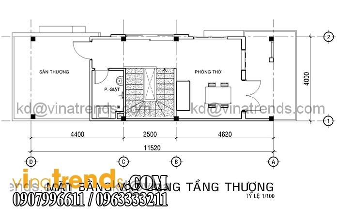 ban ve mat bang mau nha ong dep 4 tang dien tich mat tien 4m hien dai 1 Mới lạ mẫu thiết kế nhà đẹp 4x12m cổ điển theo phong thủy   ND180814A