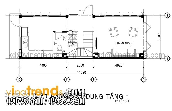 ban ve mat bang mau nha ong dep 4 tang dien tich mat tien 4m hien dai 3 Mới lạ mẫu thiết kế nhà đẹp 4x12m cổ điển theo phong thủy   ND180814A