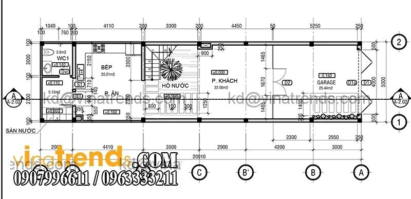 ban ve mat bang mau nha pho dep 4 tang 5x20m dep 2 Hiện đại mẫu thiết kế nhà đẹp 100m2 gọn gàng xinh xắn   ND300814A
