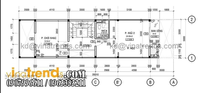 ban ve mat bang mau nha pho dep 4 tang 5x20m dep 4 Hiện đại mẫu thiết kế nhà đẹp 100m2 gọn gàng xinh xắn   ND300814A