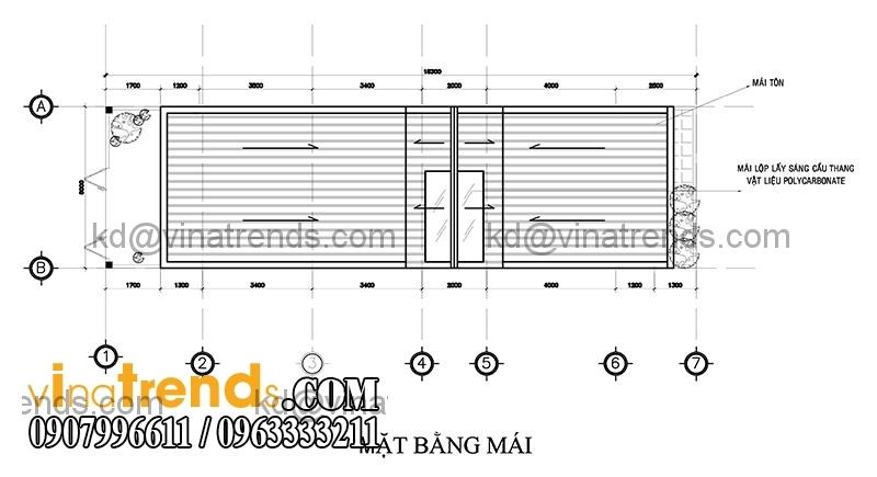 ban ve mat bang mau thiet ke nha dep 2 tang dien tich 5x153m 3 Mẫu thiết kế nhà đẹp 2 tầng 5x15,3m tại Sài Gòn   ND120814A