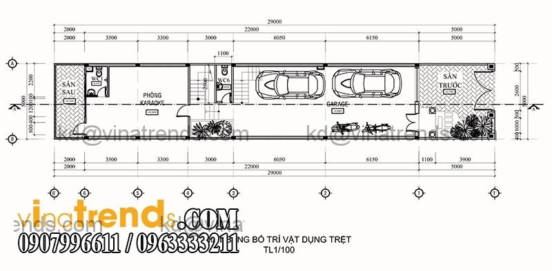 ban ve thiet ke nha pho 3 tang hien dai dien tich 695m2 2 Mẫu thiết kế nhà phố đẹp 8,45x16,5m bán cổ điển mới nhất   NP050814A