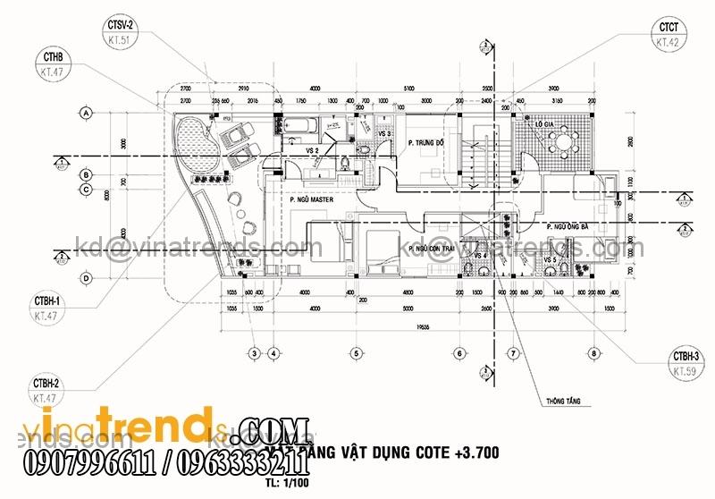 biet thu 2 tang hien dai 135m2 5 Độc đáo mẫu thiết kế biệt thự mini 2,5 tầng 8x17m nức tiếng Saigon   BTMN040814A