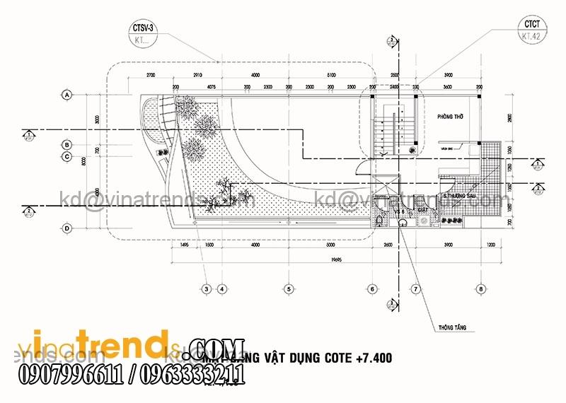 biet thu 2 tang hien dai 135m2 6 Độc đáo mẫu thiết kế biệt thự mini 2,5 tầng 8x17m nức tiếng Saigon   BTMN040814A