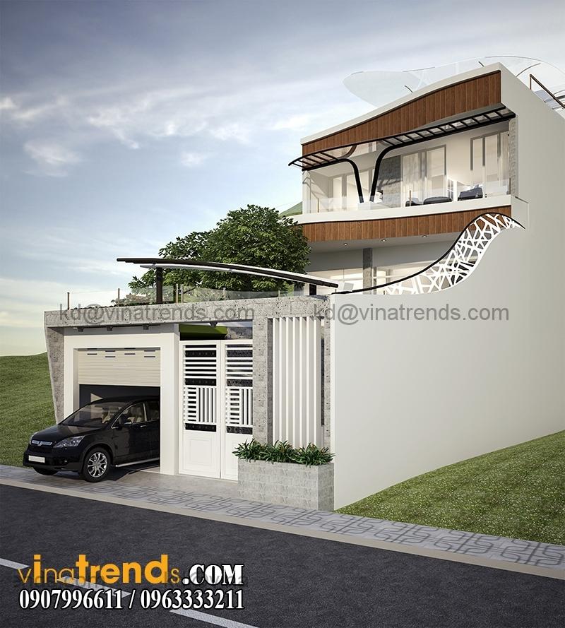 biet thu 2 tang hien dai 135m2 7 Độc đáo mẫu thiết kế biệt thự mini 2,5 tầng 8x17m nức tiếng Saigon   BTMN040814A