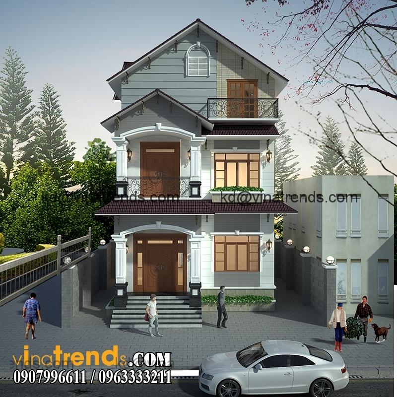 biet thu pho 2 tang 136m2 3 Biệt thự mini 2 tầng đẹp cho gia đình mẫu mực   BTMN230814A
