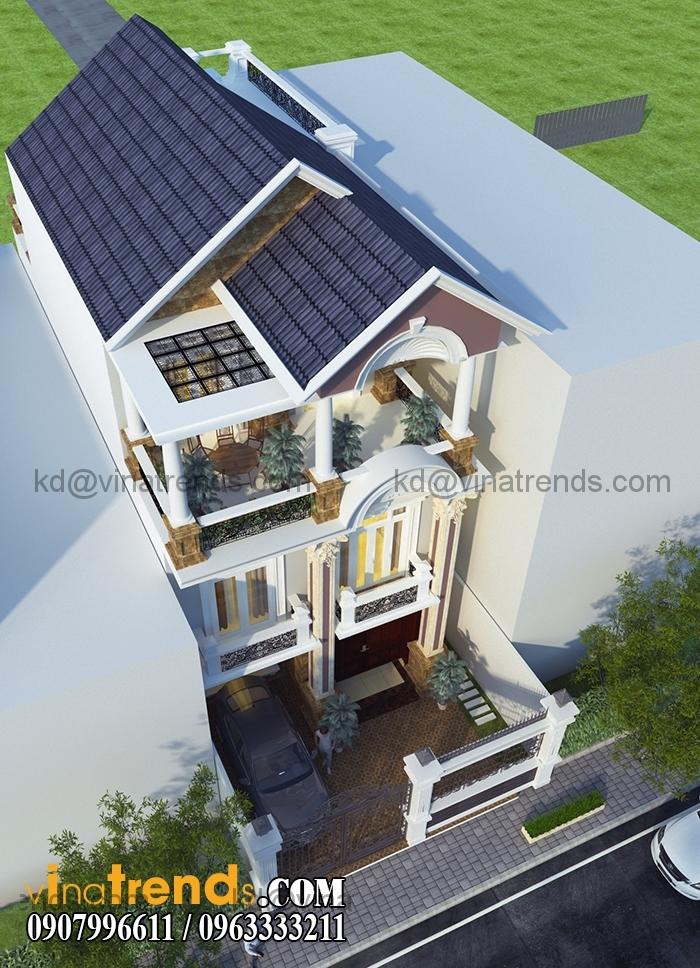 biet thu pho mat tien 7x20m 3 tang 4 VinaTrends   Công ty xây dựng tại Đồng Nai hơn 499 công trình thiết kế xây nhà trọn gói trên toàn Việt Nam