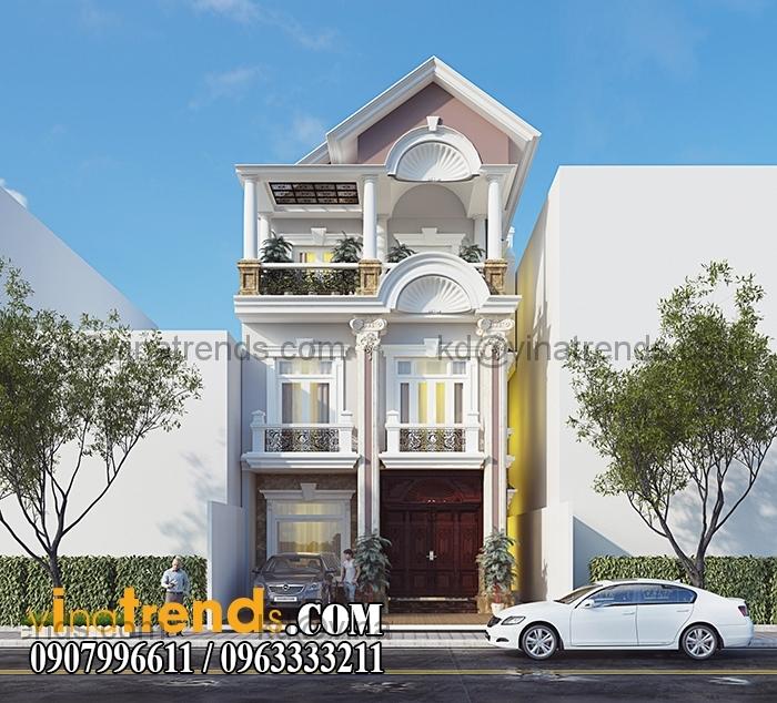 biet thu pho mat tien 7x20m 3 tang 5 VinaTrends   Công ty xây dựng tại Đồng Nai hơn 499 công trình thiết kế xây nhà trọn gói trên toàn Việt Nam