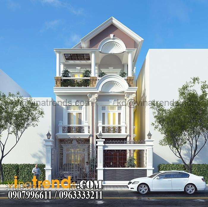 biet thu pho mat tien 7x20m 3 tang 6 VinaTrends   Công ty xây dựng tại Đồng Nai hơn 499 công trình thiết kế xây nhà trọn gói trên toàn Việt Nam