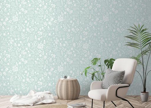 giay dan tuong hoa van nhi Công dụng của giấy dán tường Hàn Quốc cho nhà đẹp   GDT120814A