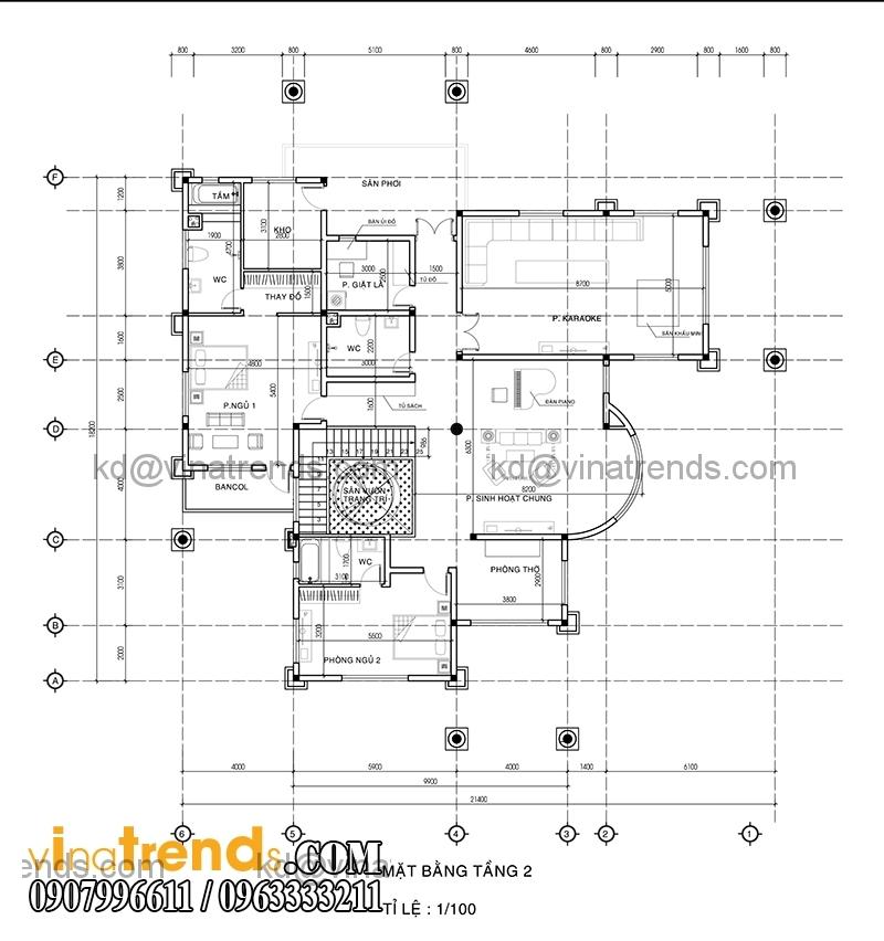 mat bang biet thu 2 tang dep 390m2 2 Sắc xanh biệt thự hiện đại 390m2 2 tầng bán cổ điển Pháp   BTHD220814A