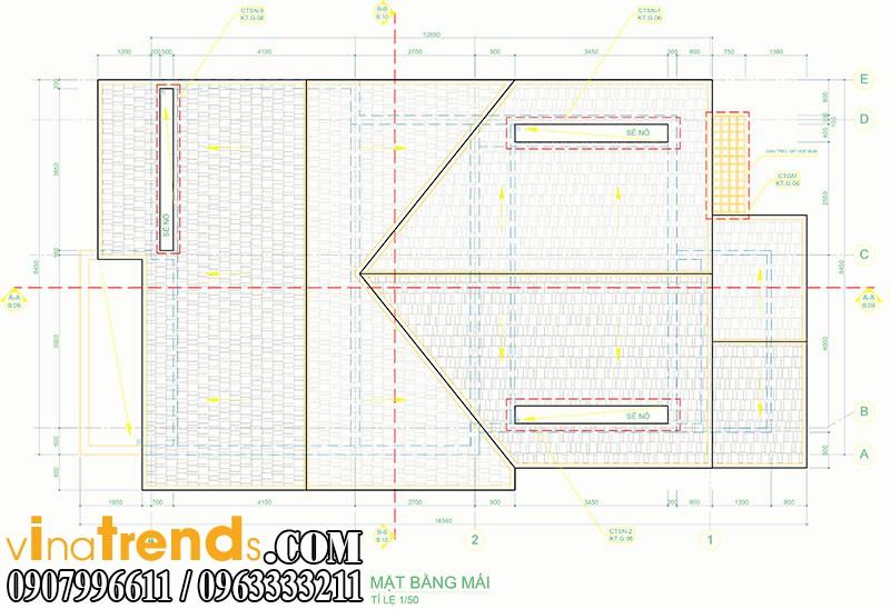 mat bang biet thu pho 2 tang 845x165m 1 Mẫu thiết kế nhà phố đẹp 8,45x16,5m bán cổ điển mới nhất   NP050814A