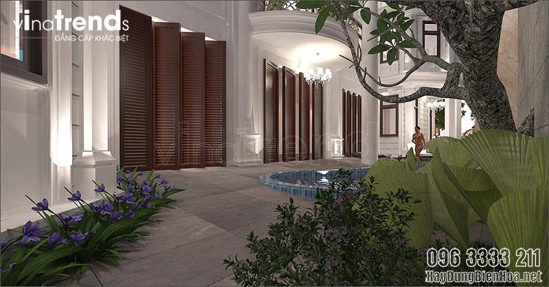 mau biet thu 3 tang phong cach tan co dien dep 3 Mẫu biệt thự 3 tầng cổ điển 11x50m chinh phục chị Ngọc bởi giá thiết kế và hồ sơ chuẩn thi công
